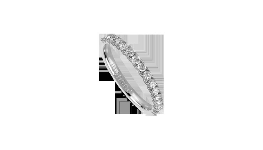 AN2460 - Anel Moments Collection Anel em ouro branco 19,2 kt. com 15 diamantes lapidação brilhante com 0,50 ct. PVP 1,680 €