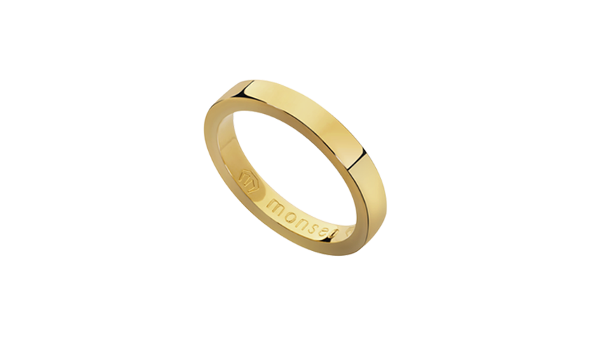 AN2429 - Aliança Moments Quadratu 3 mm   Aliança em ouro amarelo 19.2 Kt. Opção em ouro rosa ou ouro branco.