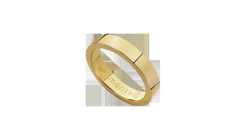 AN2428 - Aliança Moments Quadratu 4 mm   Aliança em ouro amarelo 19.2 Kt. Opção em ouro rosa ou ouro branco.