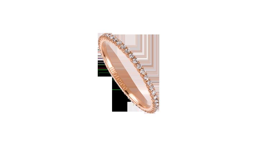 AN2450A - Aliança Moments com diamantes   Aliança em ouro rosa 19,2 kt. com 45 diamantes lapidação brilhante. Opção em ouro amarelo ou ouro branco.