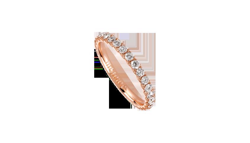 AN2460A - Aliança Moments com diamantes   Aliança em ouro rosa 19,2 kt. com 29 diamantes lapidação brilhante. Opção em ouro amarelo ou ouro branco.