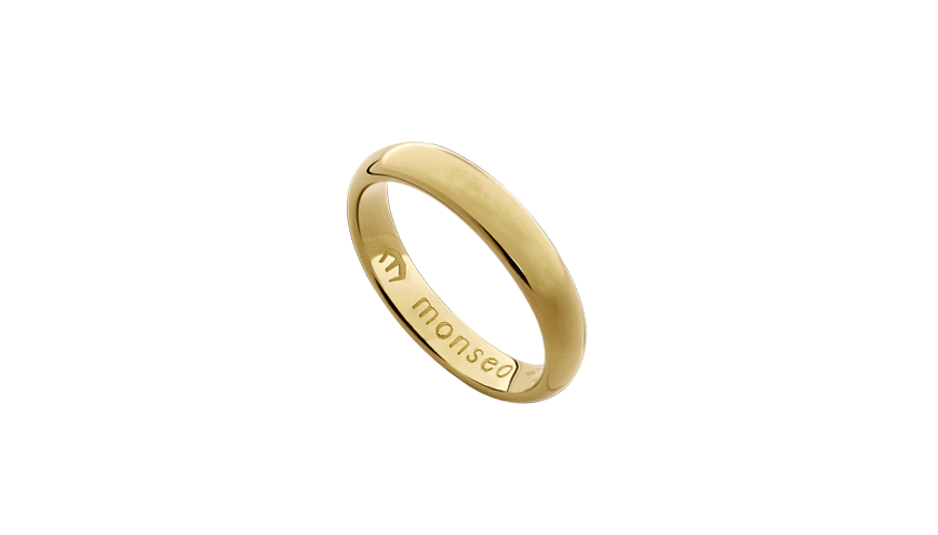 AN2431 - Aliança Moments Lovely 4.2 mm   Aliança em ouro amarelo 19.2 Kt. Opção em ouro rosa ou ouro branco.