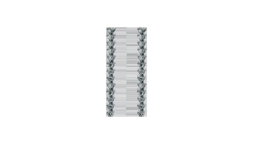 BI1708 - Retro Earrings   Brincos em ouro branco 19,2 kt. com 26 diamantes lapidação brilhante com 1,37 ct.  PVP 5300 €