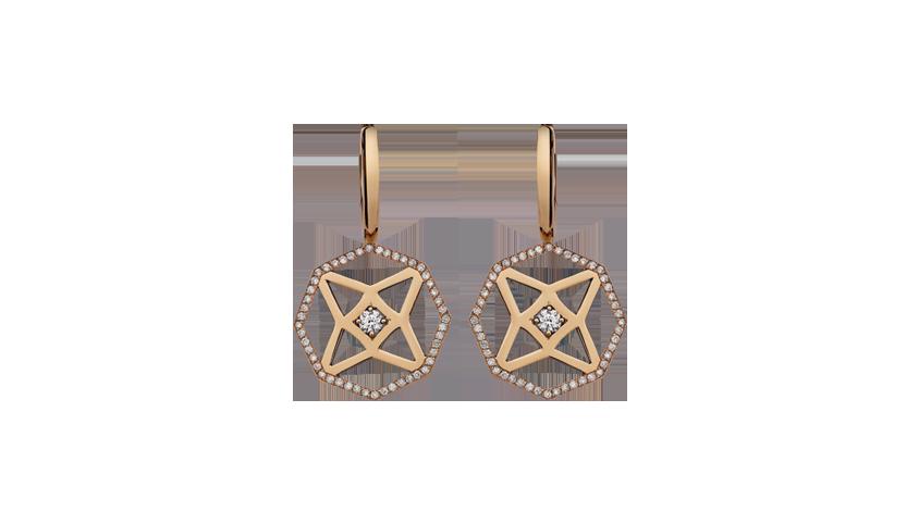 BI2324 - Portuguese Story Earrings   Brincos em ouro rosa 19,2 kt. com 98 diamantes lapidação brilhante com 0,59 ct. PVP 2800 €