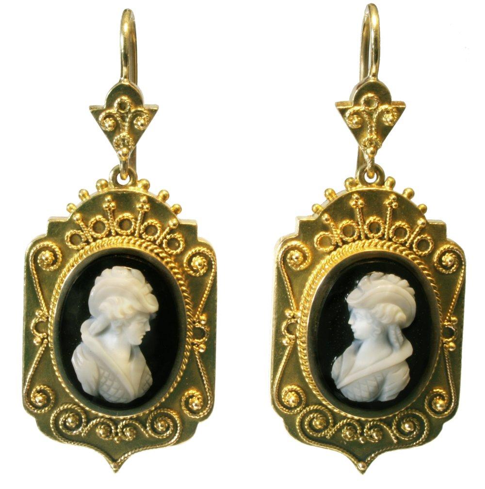 Antique Black Cameo Earrings.jpg