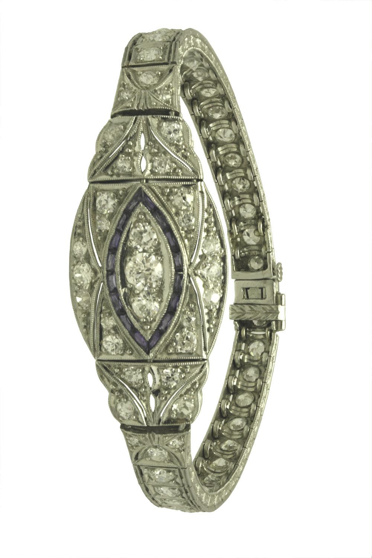 Art Deco Diamond and Sapphire Bracelet.jpg