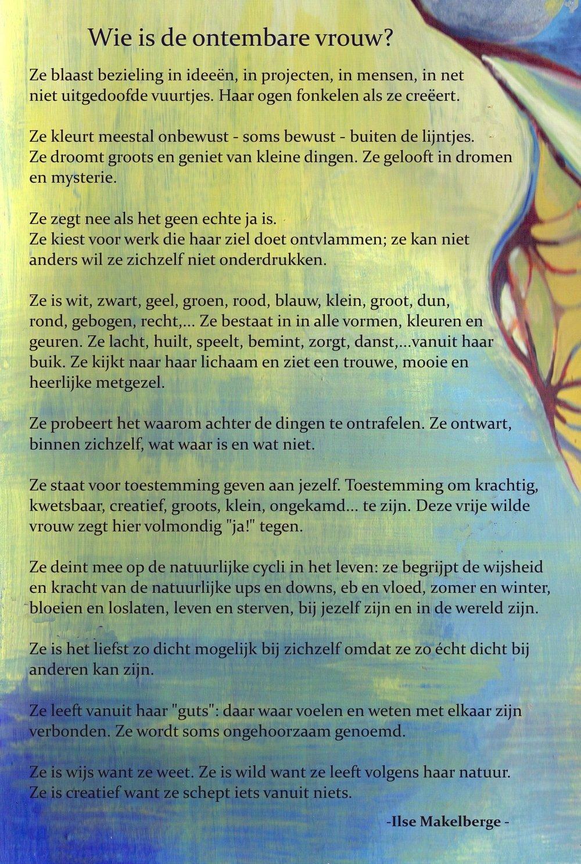 'Wie is de ontembare vrouw' door Ilse Makelberge
