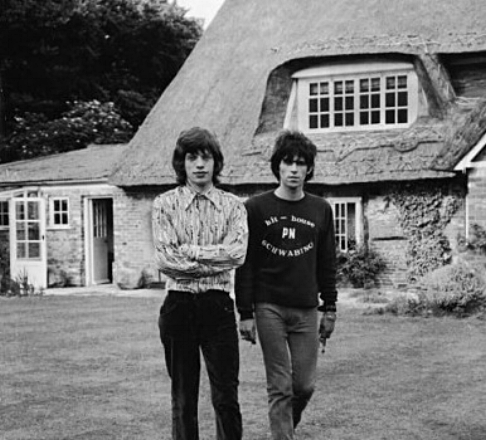 Mick and Keith outside Redlands