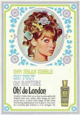 Jean Shrimpton, face of Yardley, 1967