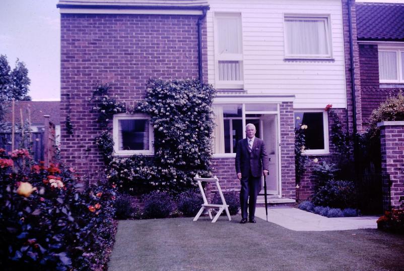 Dapper Grandpa outside the Bosham house. Photo: Rhys Williams