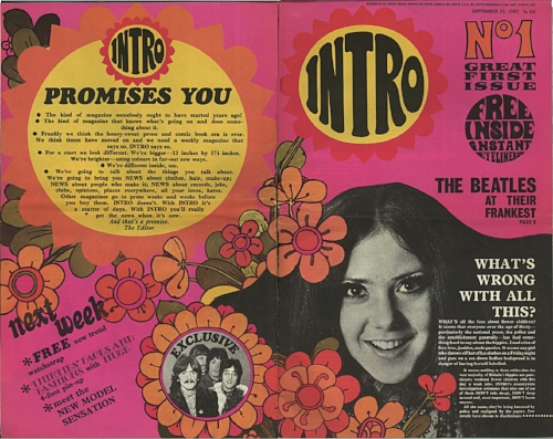 The slightly racy 'Intro' mag continued into the '70s.