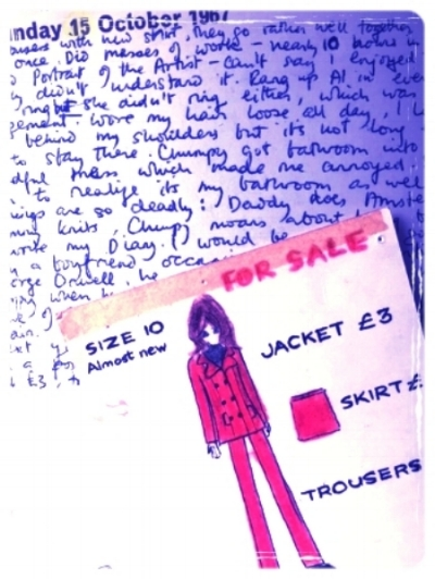 The advertisement for the trouser suit