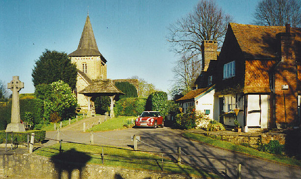 Ewhurst church and post office. Photo: Colin Smith