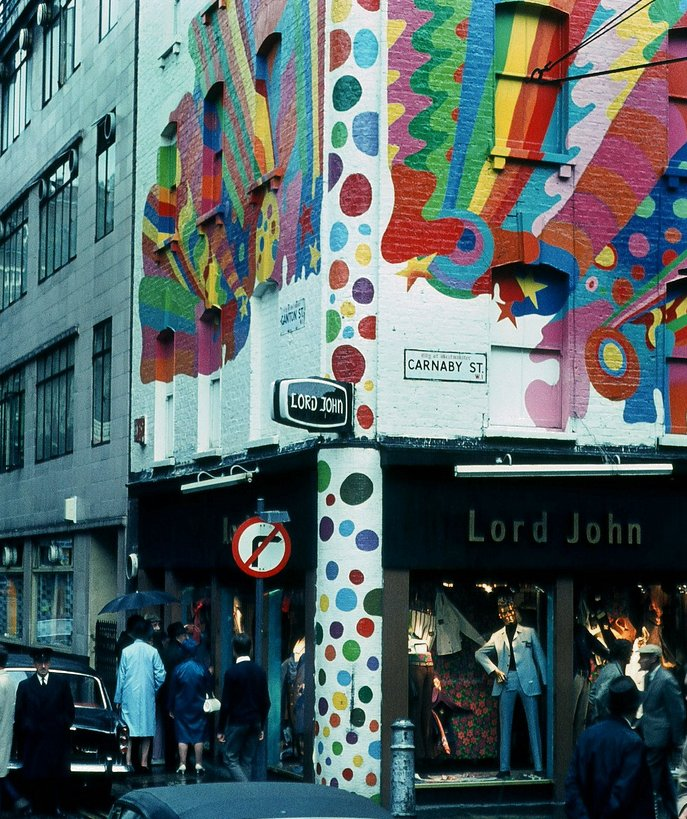 """Lord John and their psychedelic wall"""
