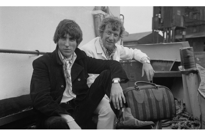 Johnny Walker (R) and Robbie Dale (L) stayed with Radio Caroline up until the day the ships were towed away, in March 1968