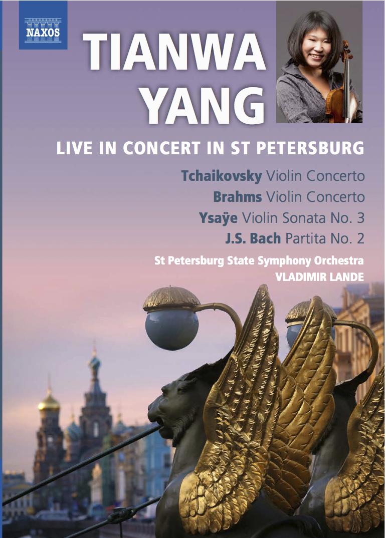 Live in concert in St. Petersburg   Tchaikovsky and Brahms violin concertos  Tianwa Yang, Violine St. Petersburg State Symphony Orchestra Vladimir Lande  Label: NAXOS 2.110283
