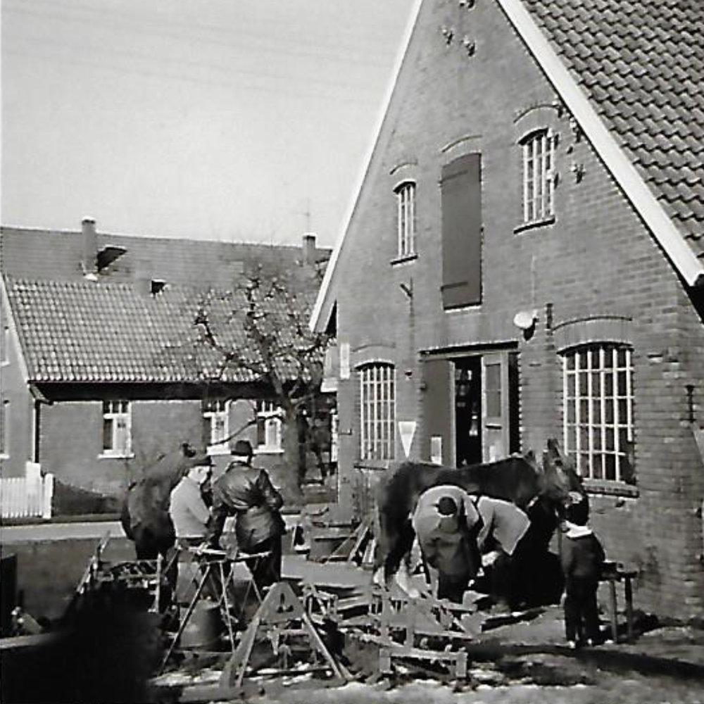 Die alte Schmiede von Fritz Vehling