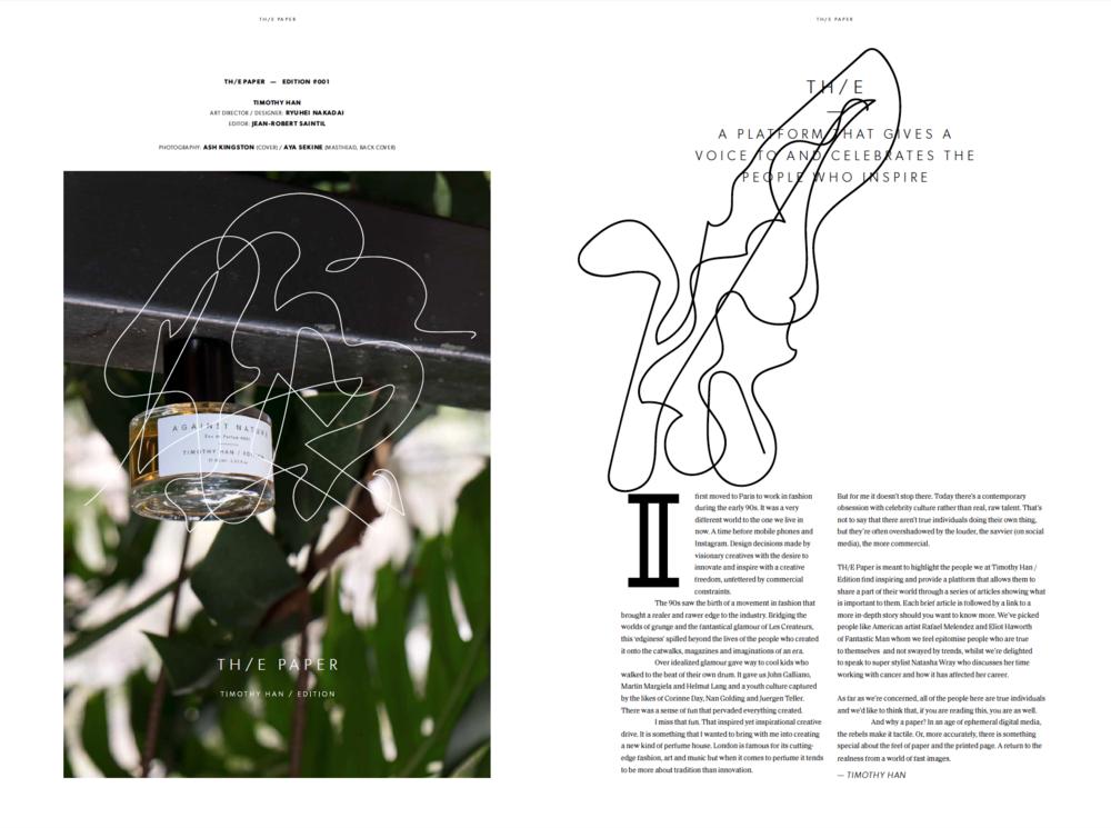 Timothy Han Edition _ Th/e Paper _