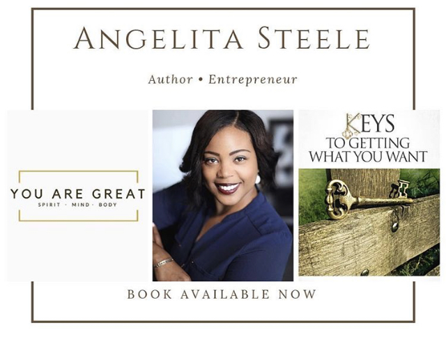 Author/Motivational Speaker Angie Steele:  Keys to Getting What You Want is your very own journal in the back of the book. The book ends with pages for you to add entries to God, hopes & plans, and even goals. Journaling is my secret weapon to winning. It helps me not only to release thoughts, but see the blessings in my life. I pray that you come to enjoy it and can look back over all God has done for you  IG:  @Steeledivine   Visit:  https://steeledivine.com/journal