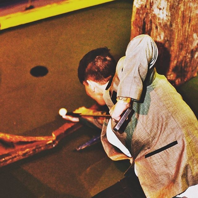 How good is your swing? 🤔 Test yourself and book in with us at www.ghettogolf.co.uk 😂🔉🎶⛳️🏌🏻🍻 . . . #GhettoGolf #CrazyGolf #CrazyGolfCourse #18Holes #CocktailBar #DJs #StreetFood #DayOut #BookOnline #Liverpool #BalticTriangle #BreweryVillage  #BBQ