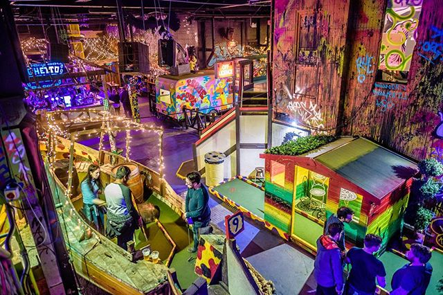 ☄️🏌🏻Hope your weekend has been a round and a half... Fancy finishing it off with a round of crazy golf? ⛳️👌🏻 We have some walk-in spaces available so come on down and see us! We're dead nice 😇🍻Head to www.ghettogolf.co.uk and book your party in for future dates! Not worth missing out on 👀 . . . #GhettoGolf #Liverpool #CrazyGolf #CrazyGolfCourse #18Holes #PartyBookings #CainsBrewery #CocktailBar #DJs #DayOut #WhatToDoToday #StreetFood