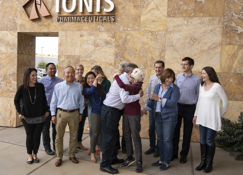 nancy wexler visits ionis pharmaceuticals to meet the people making