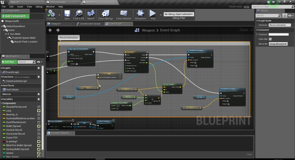 Progress update 3 bullets and recoil recoil animation blueprint malvernweather Image collections