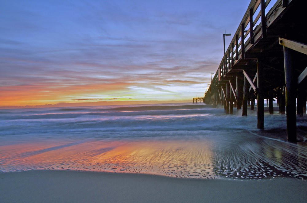 Sunrise at South Myrtle Beach Pier - by Zelia Frick.jpg