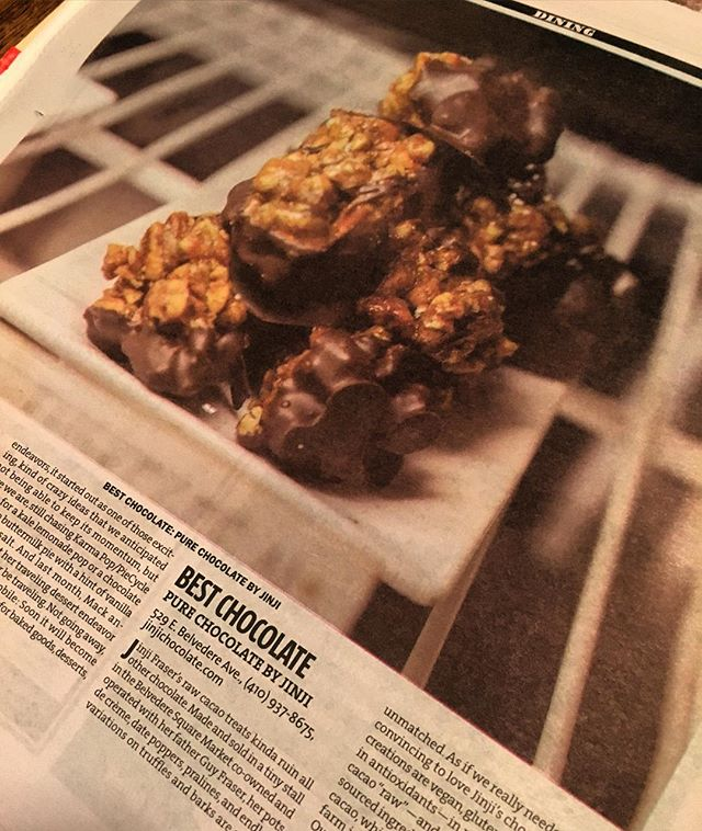 Look mom, your pecans! And our chocolate. #thankyou #cacaolife #baltimore #bsq @citypaper y'all are super dope!