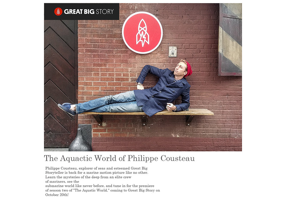 The Aquatic World of Philippe Cousteau Show / Big Story