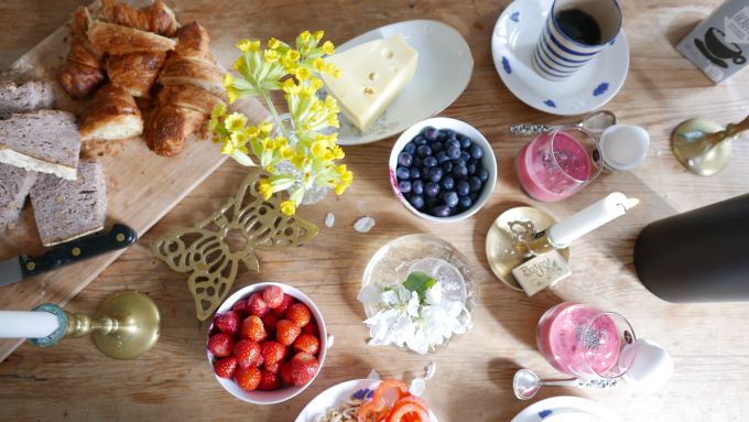 Lördagsfrukost hemma