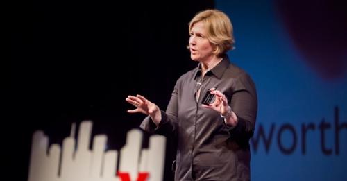 Bild från Brenes första TED-talk (källa: ted.com)