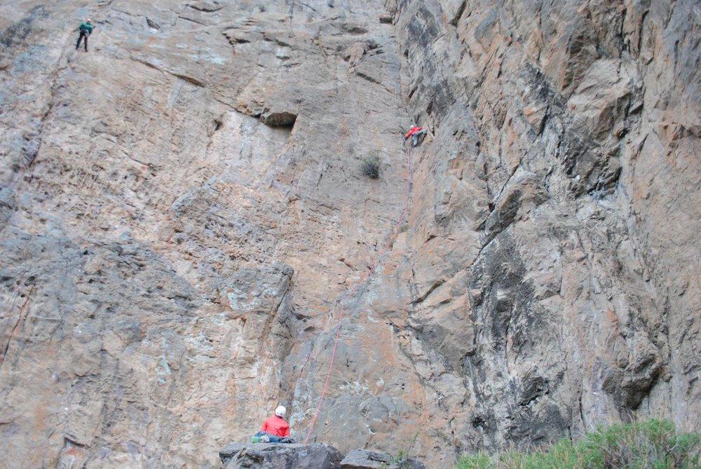 Climbing Aysen Patagonia Aguila NOLS