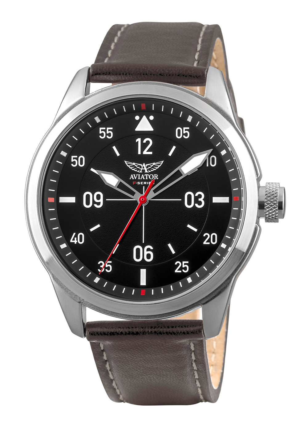 The rotating inner bezel enables the reading of the time in 24 cities around the world. The highly detailed black dial has a 2-step chronograph , 12/24 hour sub-dial, calendar and luminous hands. The 45mm case is solid stainless steel and finished in IP black plating and fitted with a high quality integrated leather strap. Water resistant to 10ATM. 24-month international warranty.