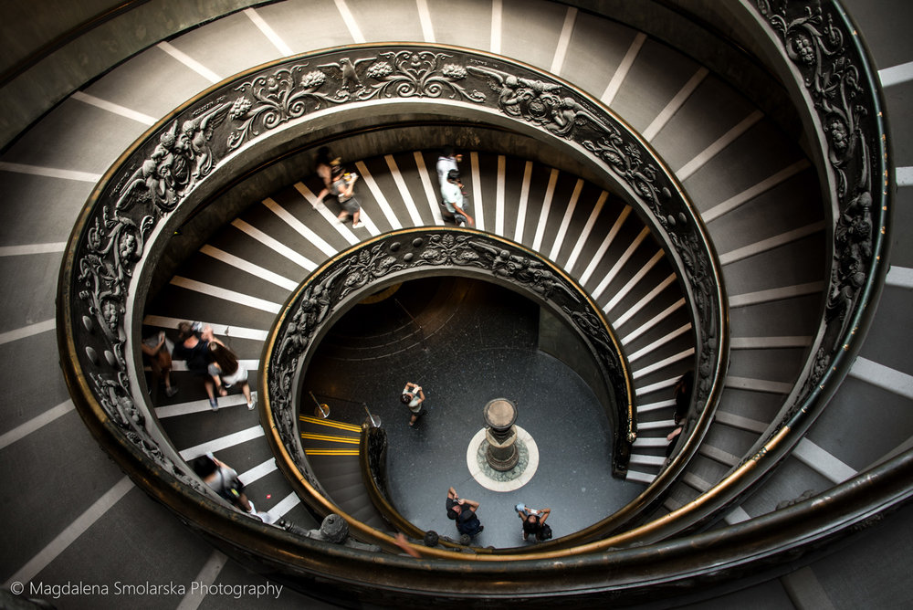 Vatican famous stairs by Magdalena Smolarska