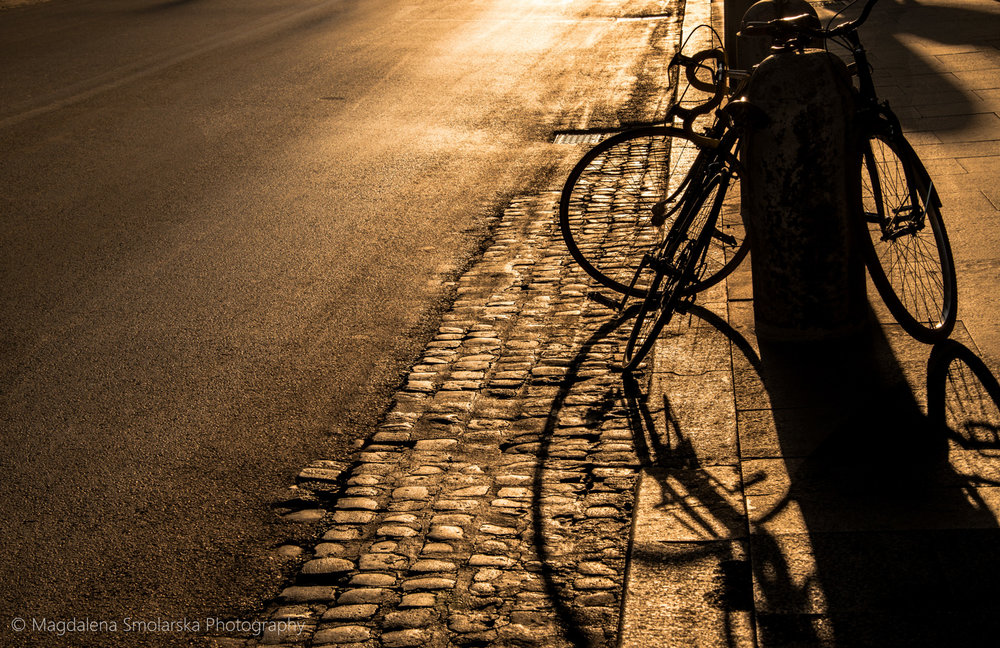 Bicycle sunset in Rome with Magdalena Smolarska