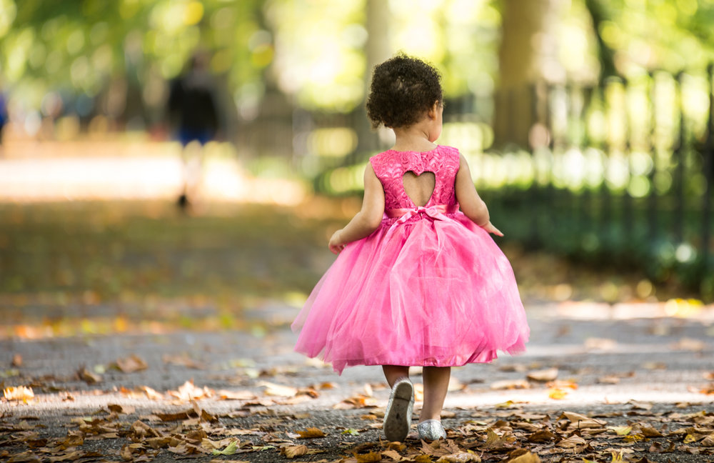 London & Brighton Portrait Photographer- Lost girl in pink dress birthday portrait