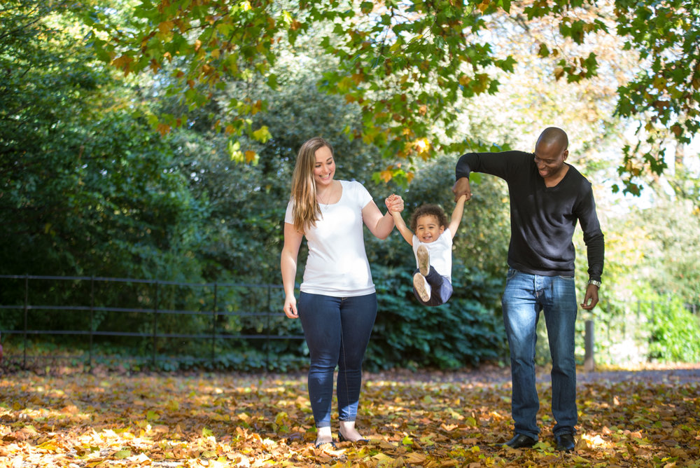 Having lovely time during outdoor family photo session