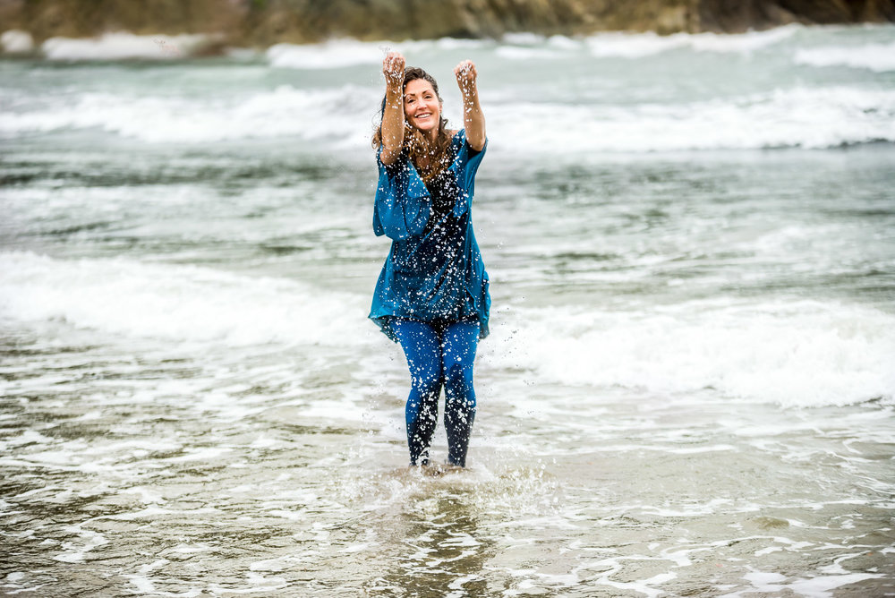 London & Brighton Professional Portrait Photographer - Photo session on the Beach in Devon