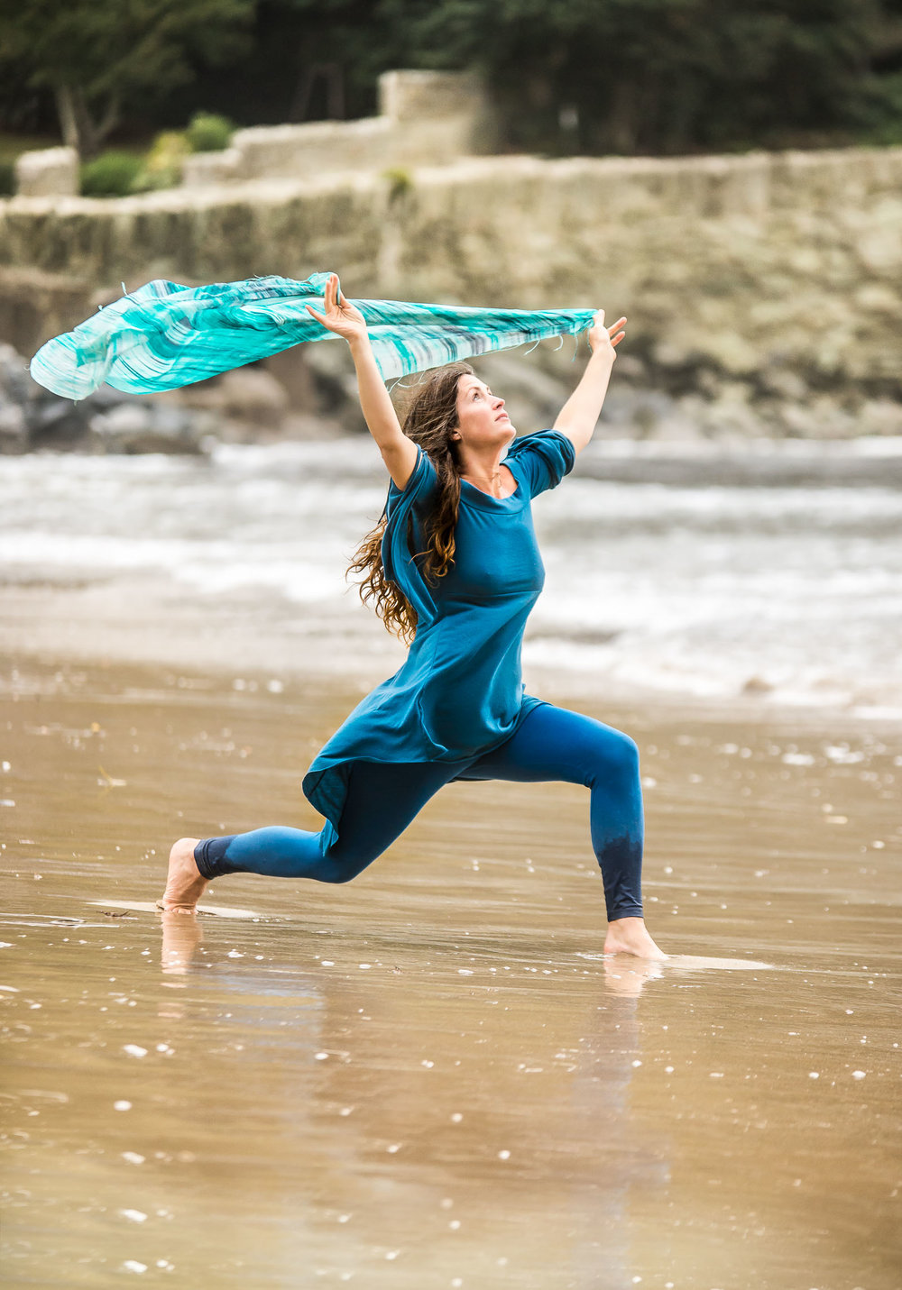 Outdoor Commercial Portrait Photographer working with Yoga Teacher from Devon - Brighton & London Photography