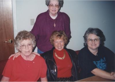 Donna BaldWin (standing), Bess Norton, Marian Wolf, Melissa Wade-Meyer