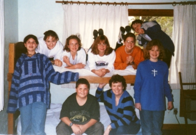 1996 MidWinter Front L to R   - Chris , Michael, Linda, Casey;  Back: Tiffany, Caitlin, Ana, Jennifer, Darin