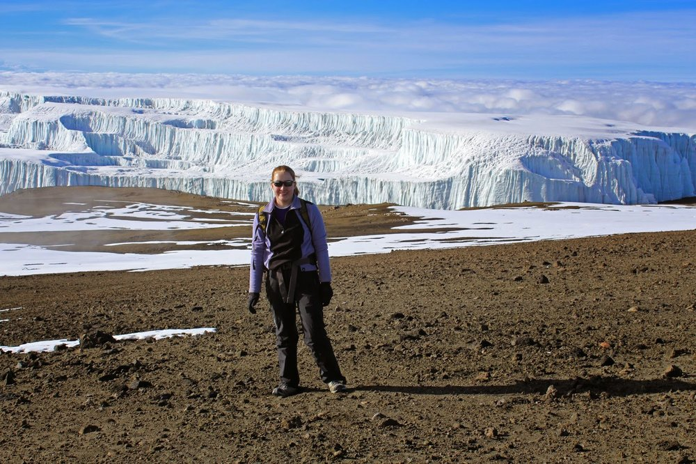 Shrinking glacier on Mount Kilimanjaro
