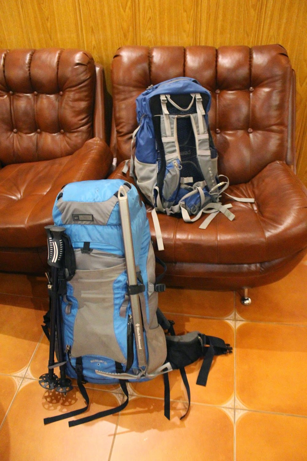 The two backpacks I used on my Mount Elbrus climb