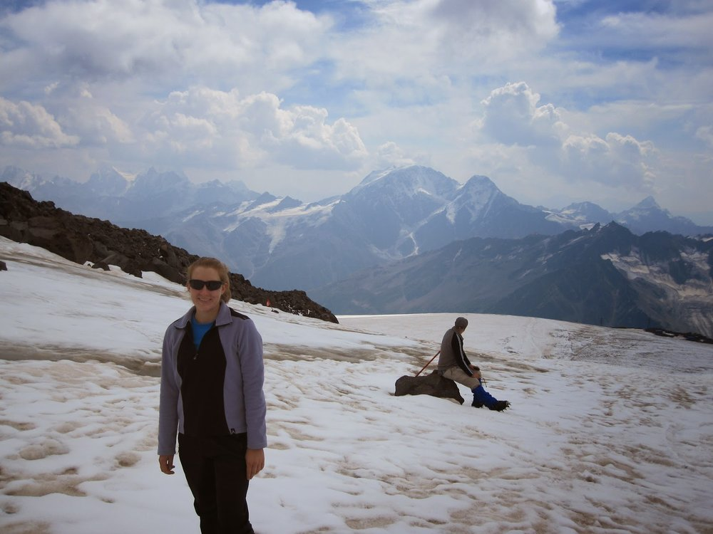 Acclimatization hike up Mount Elbrus
