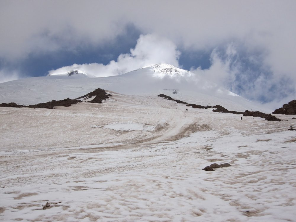 Pastukhov rocks on Mount Elbrus