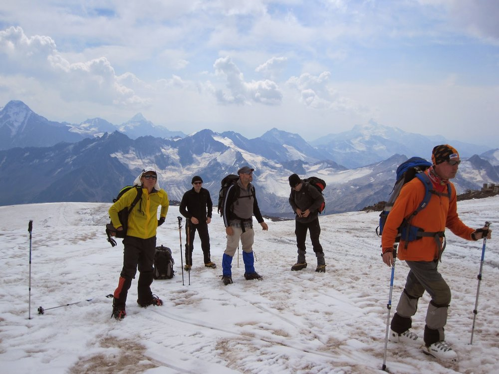 Acclimating on Mount Elbrus