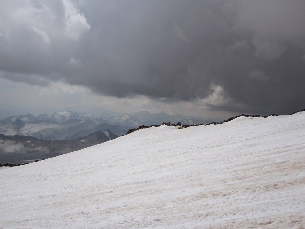 Thunderstorm on Mount Elbrus