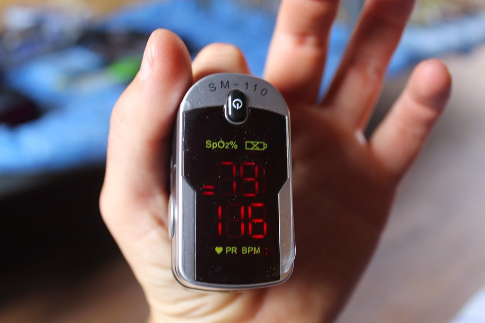 Pulse oximeter on Mount Elbrus