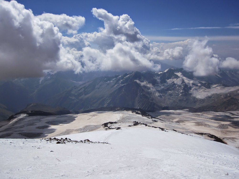 View from Mount Elbrus climb
